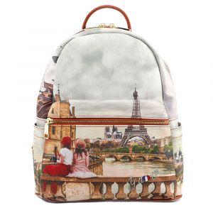 Zaino Donna Piccolo Y NOT con Tasca Esterna YES-380 Paris C'est La Vie