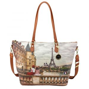 Borsa Donna Y NOT Shopping a Spalla con Tracolla YES-397 Paris C'est La Vie