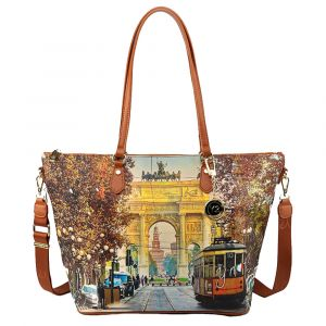 Borsa Donna Y NOT Shopping a Spalla con Tracolla YES-397 Milan Happy Hour