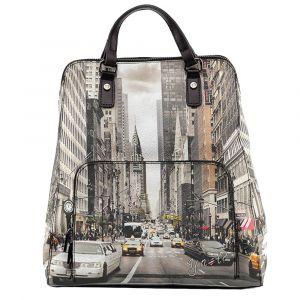 Zaino Donna Due Manici Y NOT con Tasca Esterna YES-401 NY Street Style