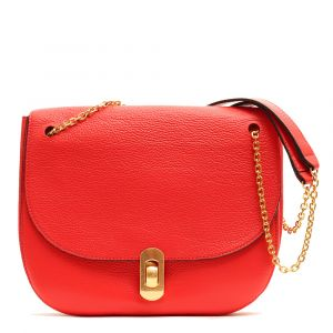 Borsa Donna con Tracolla a Catena COCCINELLE in Pelle Linea Zaniah colore Polish Red