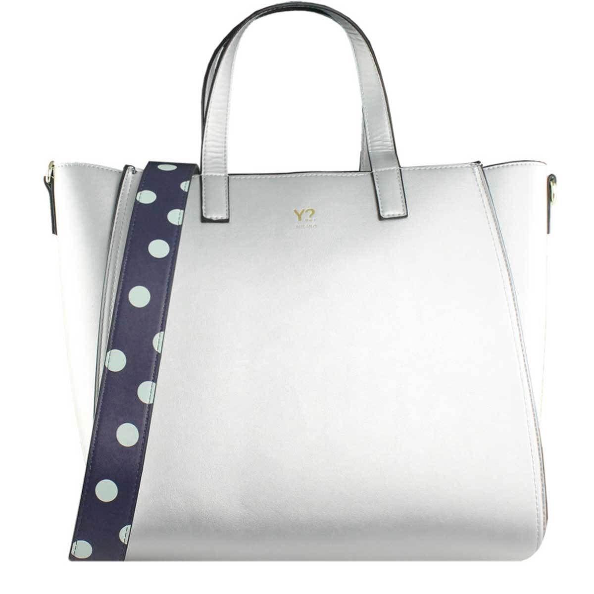 borsa donna shopping grande Y not Breeze Silver nuova