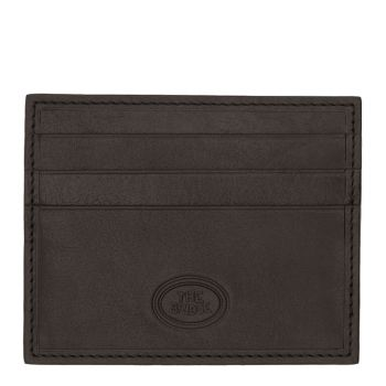 THE BRIDGE Story Line – Black Leather Credit Card Wallet Made in Italy