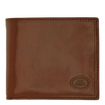 THE BRIDGE Story Line – Small Brown Wallet with Coin Pocket Made in Italy