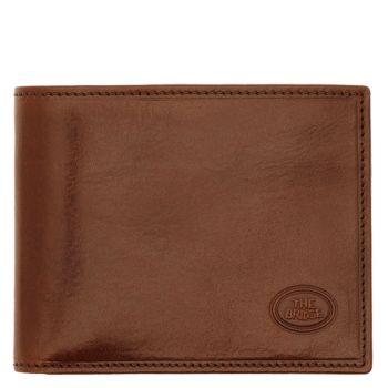 THE BRIDGE Story Line – Brown Leather Coin Pocket with Zip Fastening Made in Italy