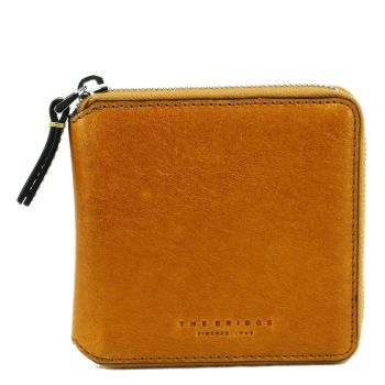 THE BRIDGE Pitigliano Line – Yellow Leather Wallet with Card Slots