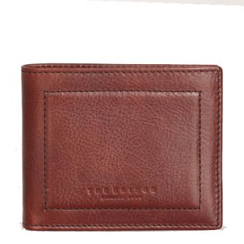 THE BRIDGE Cosimo Line – Brown Leather Wallet Made In Italy