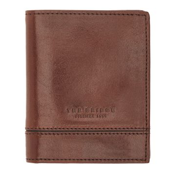 THE BRIDGE Neri Line – Brown Leather Credit Card Wallet