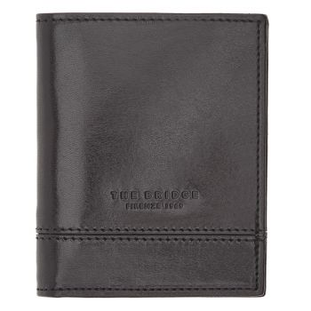 THE BRIDGE Neri Line – Black Leather Credit Card Wallet