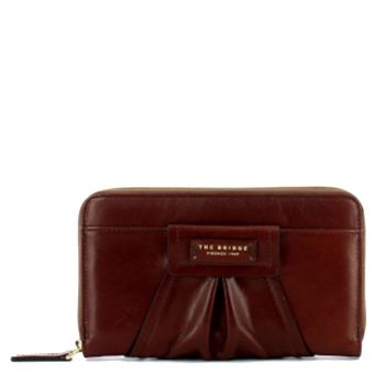 THE BRIDGE Ginori Line – Brown Leather Zip Around Wallet