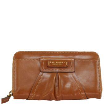 THE BRIDGE Ginori Line – Cognac Leather Zip Around Wallet