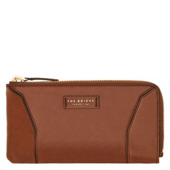 THE BRIDGE Caterina Line – Brown Leather Wallet