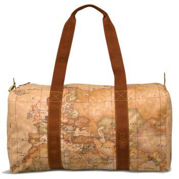 1A Classe Alviero Martini Geo Soft Line – Large Geo Classic Printed Fabric Travel Bag 7007