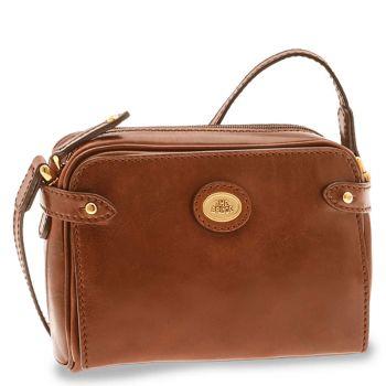 Borsa Donna Mini Bag a Tracolla THE BRIDGE in Pelle Marrone linea Story