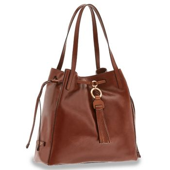 Borsa Donna Shopping Media a Spalla THE BRIDGE in Pelle Marrone linea Margherita
