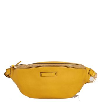Marsupio Donna THE BRIDGE in Pelle Giallo Cedro linea Margherita