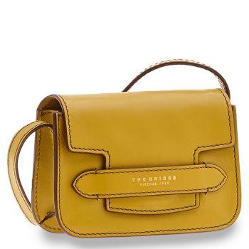 THE BRIDGE Lucrezia Line – Yellow Leather Shoulder Bag