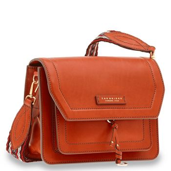 Borsa Donna a Tracolla THE BRIDGE in Pelle Color Senape linea Elba