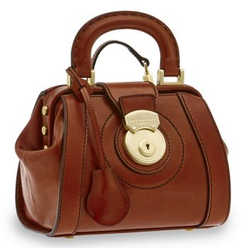 Borsa Donna Doctor Bag THE BRIDGE in Pelle Marrone linea Rufina Made in Italy