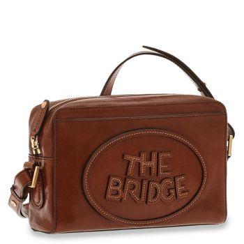Borsa Donna a Tracolla con Zip THE BRIDGE in Pelle Marrone linea Penelope