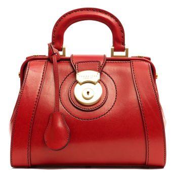 Borsa Donna Mini Doctor Bag THE BRIDGE in Pelle Rossa linea Rufina Made in Italy