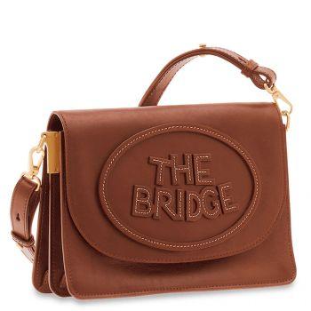 Borsa Donna a Tracolla con Pattina THE BRIDGE in Pelle Marrone linea Penelope