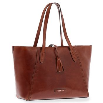 Borsa Donna Shopper a Spalla THE BRIDGE in Pelle Marrone linea Florentin