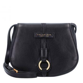 THE BRIDGE Strozzi Line – Black Leather Shoulder Bag