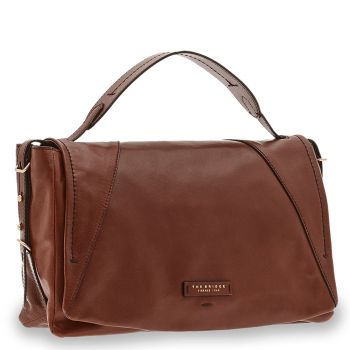 Borsa Donna a Mano Media THE BRIDGE in Pelle Marrone linea Tintori