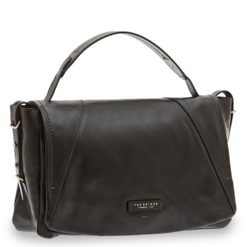 Borsa Donna a Mano Media THE BRIDGE in Pelle Nera linea Tintori