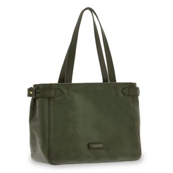 Borsa Donna Shopping a Spalla THE BRIDGE in Pelle Verde Inglese linea Maria