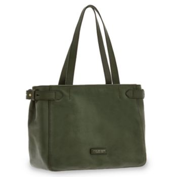 Borsa Donna Shopping a Spalla Grande THE BRIDGE in Pelle Verde Inglese linea Maria