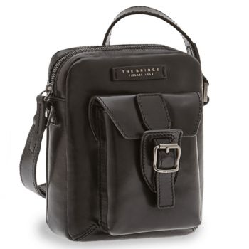 THE BRIDGE Giannutri Line – Black Leather Crossbody Bag