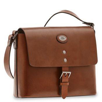 THE BRIDGE Lorenzo Line – Brown Leather Messenger