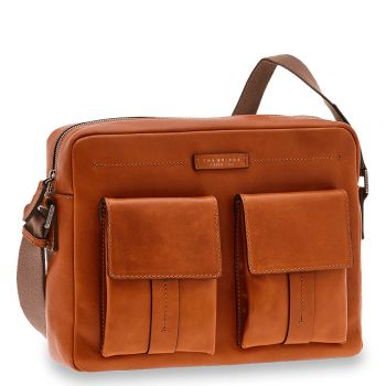 Cartella Reporter Uomo THE BRIDGE in Pelle Color Cognac linea Serristori