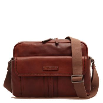 "Cartella Reporter Uomo Porta Tablet 12"" THE BRIDGE in Pelle Marrone linea Cosimo"