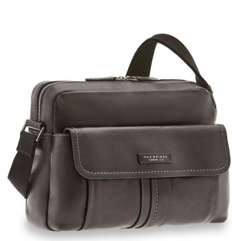 "Cartella Reporter Uomo Porta Tablet 12"" THE BRIDGE in Pelle Nera linea Cosimo"