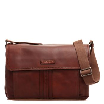 Cartella Messenger Uomo Porta Tablet THE BRIDGE in Pelle Marrone linea Cosimo