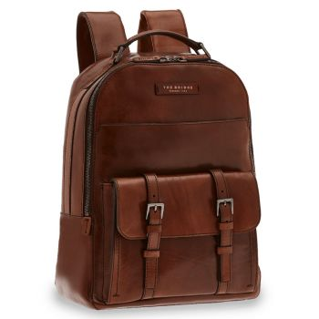 "Zaino Porta Pc 14"" THE BRIDGE in Pelle Marrone linea Byron"