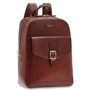 "Zaino Uomo Porta Pc 14"" THE BRIDGE in Pelle Marrone linea Soderini"
