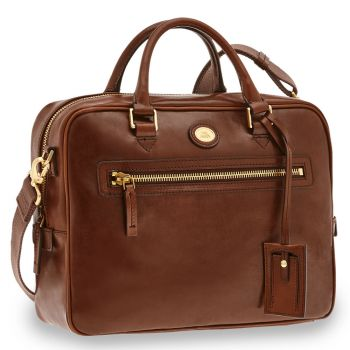 THE BRIDGE Story Line – Brown Leather Briefcase with Two Handles