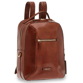 "Zaino Porta Pc 15"" THE BRIDGE in Pelle Marrone linea Bufalini"