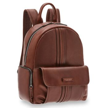 "Zaino Uomo Porta Pc 14"" THE BRIDGE in Pelle Marrone linea Cosimo"