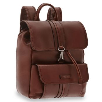 Zaino Uomo Porta Pc con Pattina THE BRIDGE in Pelle Marrone linea Cosimo