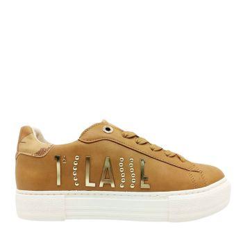 Sneakers Donna 1A Classe Alviero Martini color Cuoio con Logo Oro 10876