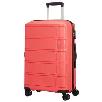 Trolley Medio 67cm 4 Ruote 3,2kg - American Tourister Summer Splash Coral Pink