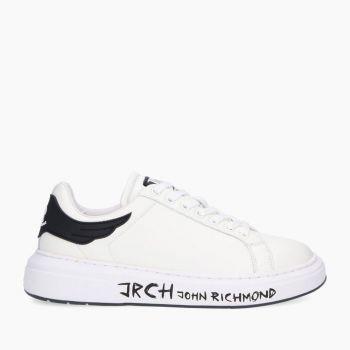 Scarpe Uomo JOHN RICHMOND Sneakers in Pelle Bianca con Suola Logata