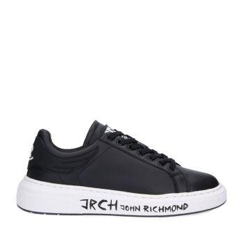Scarpe Uomo JOHN RICHMOND Sneakers in Pelle Nera con Suola Logata