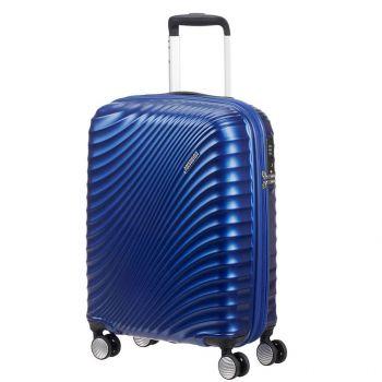 Trolley Cabina 55cm 4 Ruote Leggero 2,6kg Espandibile - American Tourister Metallic Blue Soundbox