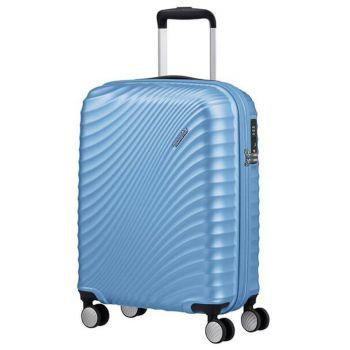 Cabin Trolley 55cm 4-wheel Lightweight 2,48kg - American Tourister Jetglam Metallic Powder Blue